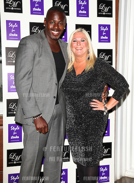 Vanessa Feltz and husband Ben arriving for the Style for Stroke Party, 5 Cavendish Square, London. 02/10/2012 Picture by: Alexandra Glen / Featureflash
