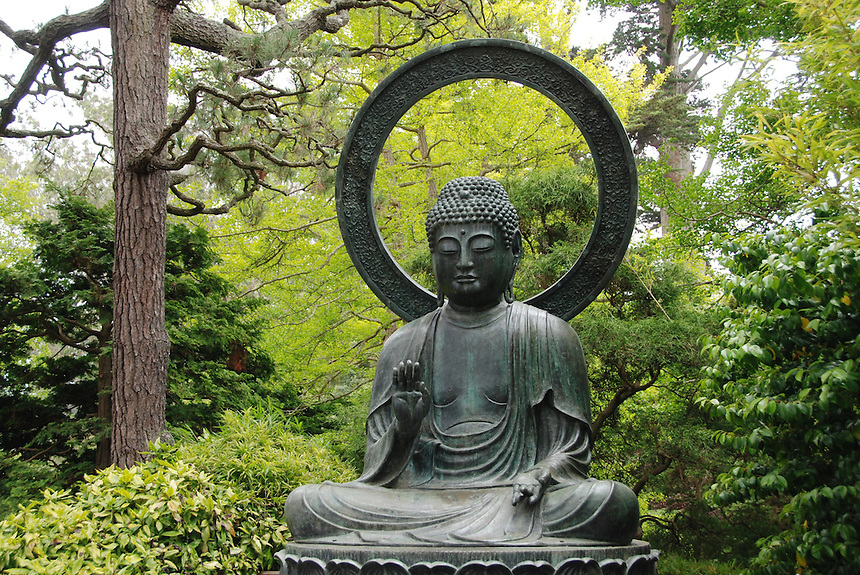 a buddha statue in the japanese garden area of golden gate state park in san francisco - Japanese Garden San Francisco