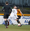 Ayr Utd's Liam Buchanan goes down in the box and receives a second yellow for diving.