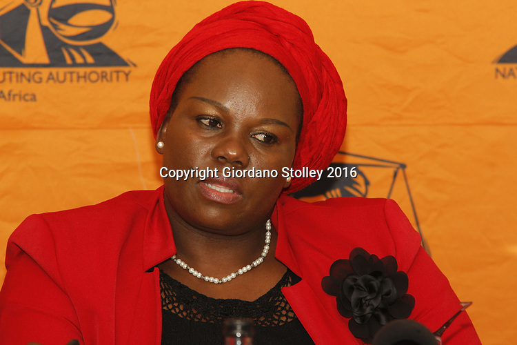DURBAN - 18 February 2016 - Advocate Moipone Noko, the Director of Public Prosecutions in KwaZulu-Natal speaks at a press briefing in Durban. Picture: Allied Picture Press/APP