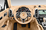 Car pictures of steering wheel view of a 2017 Porsche Cayenne Diesel 5 Door SUV Steering Wheel
