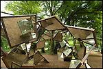 Scultura internazionale al Castello di Aglie. Sculpture exhibition in the park of the Castle of Aglie. Here the work of Carlo Maria Maggia.