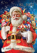 Interlitho, Simonetta, CHRISTMAS SANTA, SNOWMAN, paintings, santa, toys, KL5941,#x# ,Simonetta,itdp