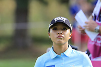Lydia Ko (NZL) on the 12th green during Thursday's Round 1 of The Evian Championship 2018, held at the Evian Resort Golf Club, Evian-les-Bains, France. 13th September 2018.<br /> Picture: Eoin Clarke | Golffile<br /> <br /> <br /> All photos usage must carry mandatory copyright credit (© Golffile | Eoin Clarke)