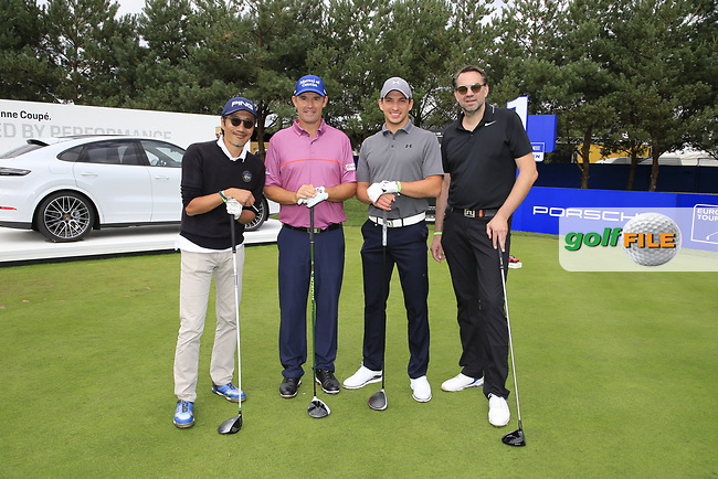 Padraig Harrington (IRL) team during the Pro-Am at the  Porsche European Open, Green Eagles Golf Club, Luhdorf, Winsen, Germany. 04/09/2019.<br /> Picture Fran Caffrey / Golffile.ie<br /> <br /> All photo usage must carry mandatory copyright credit (© Golffile   Fran Caffrey)