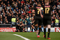 26th February 2020; Estadio Santiago Bernabeu, Madrid, Spain; UEFA Champions League Football, Real Madrid versus Manchester City; Gabriel Jesus (Manchester City)  celebrates his goal which made it 1-1 in the 78th minute