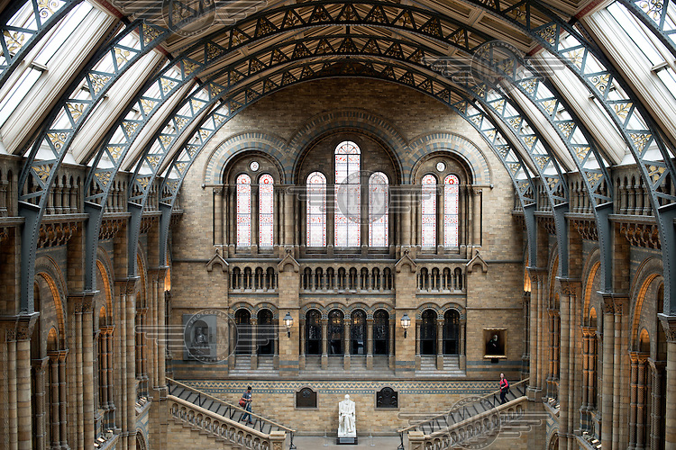 The Central Hall at Natural History Museum in London.