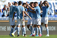 Stefan Radu of SS Lazio celebrates with team mates after scoring the goal of 2-0 for his side <br /> Roma 29-9-2019 Stadio Olimpico <br /> Football Serie A 2019/2020 <br /> SS Lazio - Genoa CFC <br /> Foto Andrea Staccioli / Insidefoto
