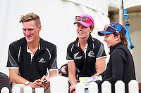 NZL-Jackson Bovill, Ginny Thompson and Nicola Felton. 2016 NZL-Puhinui International 3 Day Event. Puhinui Reserve, Auckland. Friday 9 December. Copyright Photo: Libby Law Photography