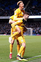 Preston North End's Paul Gallagher is congratulated by Callum Robinson after scoring his side's equalising goal to make the score 1-1<br /> <br /> Photographer David Shipman/CameraSport<br /> <br /> The EFL Sky Bet Championship - Ipswich Town v Preston North End - Saturday 3rd November 2018 - Portman Road - Ipswich<br /> <br /> World Copyright &copy; 2018 CameraSport. All rights reserved. 43 Linden Ave. Countesthorpe. Leicester. England. LE8 5PG - Tel: +44 (0) 116 277 4147 - admin@camerasport.com - www.camerasport.com