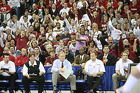 16 December 2006: Stanford Cardinal fans during Stanford's 30-27, 26-30, 28-30, 27-30 loss against the Nebraska Huskers in the 2006 NCAA Division I Women's Volleyball Final Four Championship match at the Qwest Center in Omaha, NE.