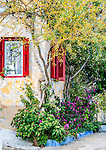 Old house in Anafiotika, the most picturesque neighborhood of Plaka, Athens, Greece