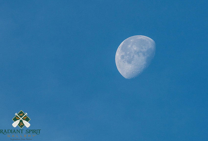 &quot;Late Morning Moon&quot;<br /> <br /> The moon hangs in the morning sky.<br /> ~ Day 90 of Inspired by Wilderness: A Four Season Solo Canoe Journey