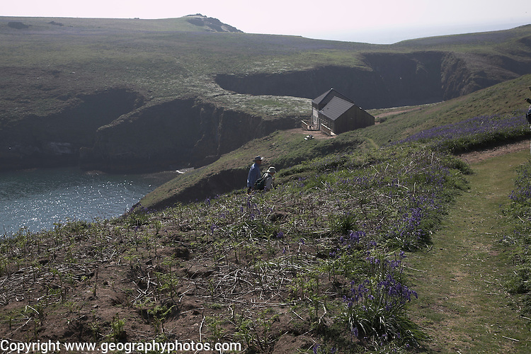 Warden's house and study centre, Skomer Island, Pembrokeshire, Wales