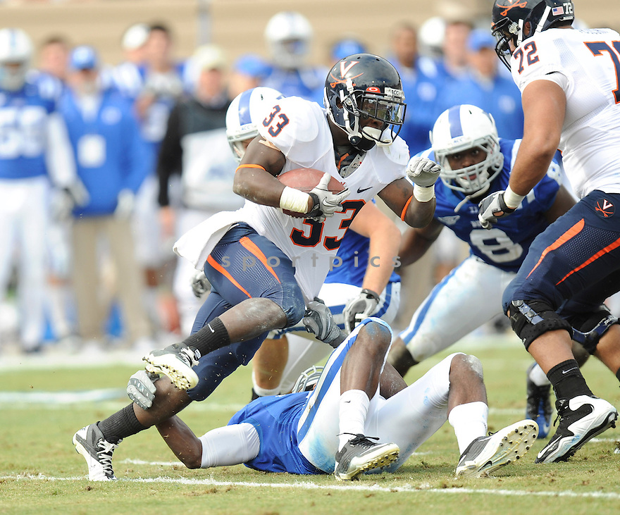 PERRY JONES, of the  Virginia Cavaliers, in action during Cavaliers game against the Duke Blue Devils on November 6, 2010 at Wallace Wade Stadium in Durham, North Carolina...Duke 55 Virginia 48..