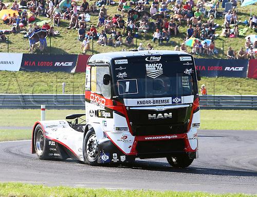 28.08.2015. Most, Czech Republic. FIA European Truck Racing Championship. Czech Truck Prix.<br /> Norbert KISS (HUN), MAN, OXXO Truck Race Team,