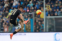 Calcio, Serie A: Frosinone vs Juventus. Frosinone, stadio Comunale, 7 febbraio 2016.<br /> Juventus' Paulo Dybala kicks the ball during the Italian Serie A football match between Frosinone and Juventus at Frosinone's Comunale stadium, 7 January 2016.<br /> UPDATE IMAGES PRESS/Isabella Bonotto