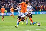 06.09.2019, Volksparkstadion, HAMBURG, GER, EMQ, Deutschland (GER) vs Niederlande (NED)<br /> <br /> DFB REGULATIONS PROHIBIT ANY USE OF PHOTOGRAPHS AS IMAGE SEQUENCES AND/OR QUASI-VIDEO.<br /> <br /> im Bild / picture shows<br /> <br /> Ryan BABEL (Niederlande / NED #09)<br /> Joshua Kimmich (Deutschland / GER #06)<br /> <br /> während EM Qualifikations-Spiel Deutschland gegen Niederlande  in Hamburg am 07.09.2019, <br /> <br /> Foto © nordphoto / Kokenge