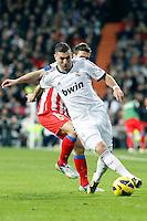 Karim Benzema and Gabi during La Liga Match. December 02, 2012. (ALTERPHOTOS/Caro Marin)