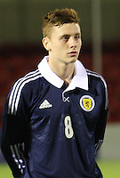Lewis MacLeod in the Scotland v Armenia UEFA European Under-19 Championship Qualifying Round match at New Douglas Park, Hamilton on 9.10.12.