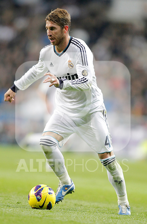 Real Madrid's Sergio Ramos during La Liga Match. November 17, 2012. (ALTERPHOTOS/Alvaro Hernandez)