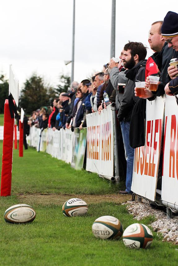 Crowd at Moseley Rugby Club<br /> <br /> Photographer Rachel Holborn/CameraSport<br /> <br /> Rugby Union - British and Irish Cup - Moseley v Worcester Warriors - Saturday 25th October 2014 - Billesley Common - Birmingham<br /> <br /> &copy; CameraSport - 43 Linden Ave. Countesthorpe. Leicester. England. LE8 5PG - Tel: +44 (0) 116 277 4147 - admin@camerasport.com - www.camerasport.com