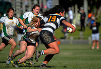 Amanda Rasch in action during the Victoria Tavern Wellington women's premier club rugby final between Oriental-Rongotai and Old Boys University at Petobe Rec in Wellington, New Zealand on Saturday, 5 August 2017. Photo: Dave Lintott / lintottphoto.co.nz