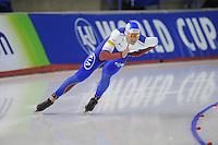 SPEEDSKATING: CALGARY: 13-11-2015, Olympic Oval, ISU World Cup, 500m, Pavel Kulizhnikov (RUS), ©foto Martin de Jong