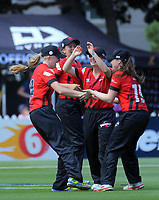 Action from the women's Burger King Super Smash T20 cricket match between the Wellington Blaze and Canterbury Magicians at Basin Reserve in Wellington, New Zealand on Sunday, 6 January 2019. Photo: Dave Lintott / lintottphoto.co.nz