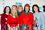 Belinda Anderson, Ruth Burke, Kaisa Dumka, Danielle Lyne and Eileen Courtney enjoying Santa visit to Castlemaine Resource Centre on Sunday