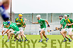 Kilmoyley in action against  Ballyduff in the County Senior Hurling Final at Austin Stack Park on Sunday.