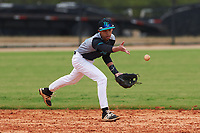 Benjamin Bausas (6) of Virginia Beach, Virginia during the Baseball Factory All-America Pre-Season Rookie Tournament, powered by Under Armour, on January 13, 2018 at Lake Myrtle Sports Complex in Auburndale, Florida.  (Michael Johnson/Four Seam Images)