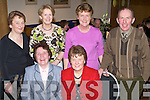 Having a wonderful time at the Causeway Ceoltas Dinner held in The Ballyroe Heights Hotel on Saturday night were seated l/r Mary Casey and Geraldine Quilter, standing l/r Helen Twomey, Doreen Egan, Anne Casey and Frank Quilter.   Copyright Kerry's Eye 2008