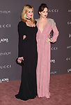 LOS ANGELES, CA - NOVEMBER 04: Actors Melanie Griffith (L) and Dakota Johnson attend the 2017 LACMA Art + Film Gala Honoring Mark Bradford and George Lucas presented by Gucci at LACMA on November 4, 2017 in Los Angeles, California.