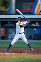 Nicky Lopez (4) of the Burlington Royals at bat against the Princeton Rays at Burlington Athletic Stadium on June 24, 2016 in Burlington, North Carolina.  The Rays defeated the Royals 16-2.  (Brian Westerholt/Four Seam Images)