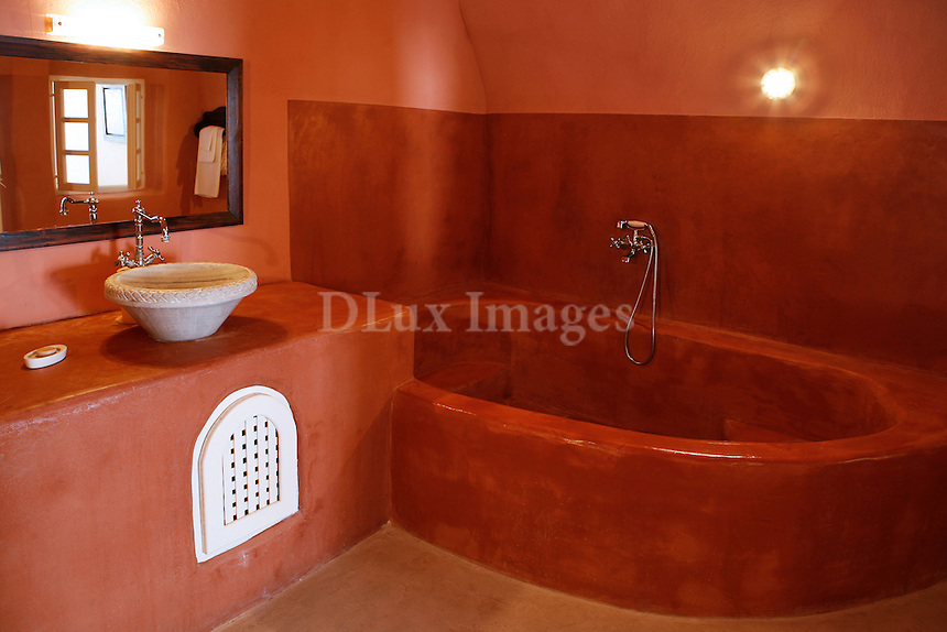 traditional cycladic bathroom