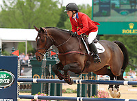 LEXINGTON, KY - April 30, 2017.  #49 Under Suspection and Hannah Sue Burnett from the USA finish in 5th place in the Rolex Three Day Event at the Kentucky Horse Park.  Lexington, Kentucky. (Photo by Candice Chavez/Eclipse Sportswire/Getty Images)