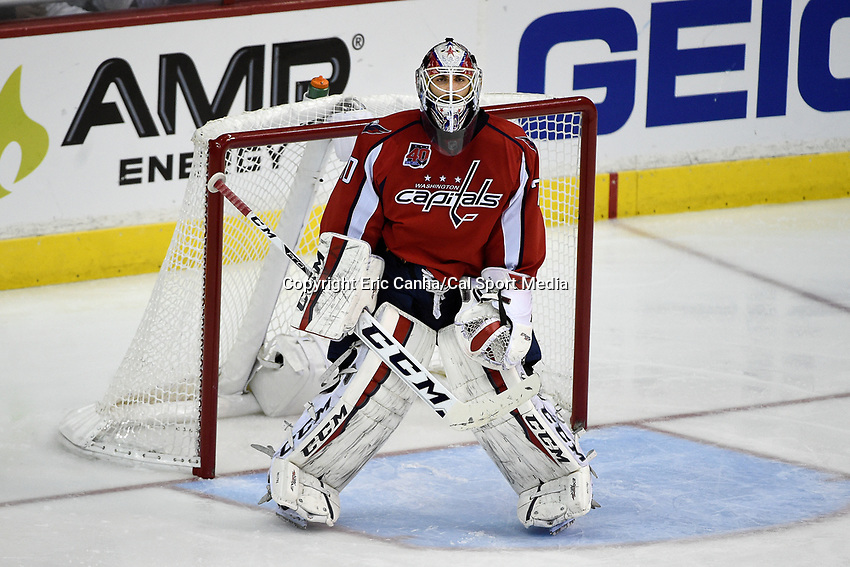 April 23, 2015 - Washington D.C., U.S. -  Washington Capitals goalie Braden Holtby (70) in game action during game 5 of the  NHL Eastern Conference Quarter finals between the New York Islanders and the Washington Capitals held at the Verizon Center in Washington DC.