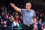 S&ouml;dert&auml;lje 2014-04-15 Basket SM-Semifinal 5 S&ouml;dert&auml;lje Kings - Uppsala Basket :  <br /> Nicke Mpotitsis under matchen<br /> (Foto: Kenta J&ouml;nsson) Nyckelord:  S&ouml;dert&auml;lje Kings SBBK Uppsala Basket SM Semifinal Semi T&auml;ljehallen domare referee ref portr&auml;tt portrait