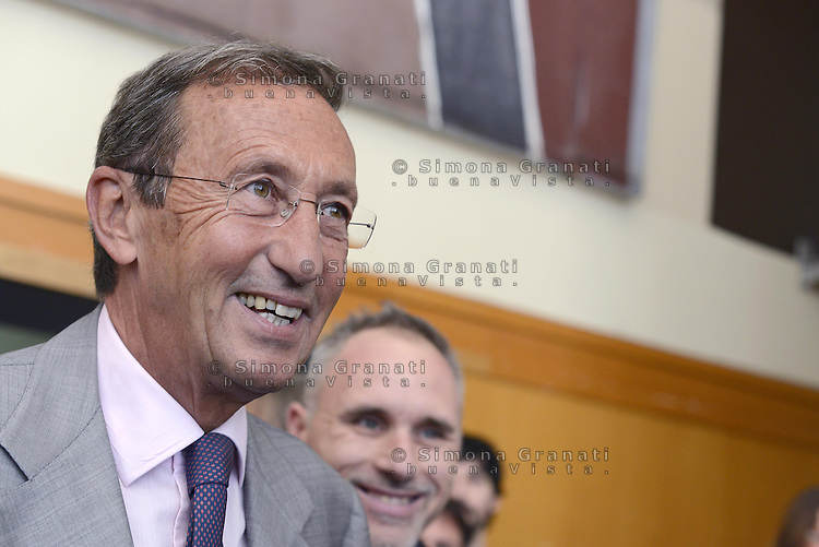 Roma, 28 Giugno 2014<br /> Palazzo dei Congressi<br /> L'ex presidente della Camera fondatore di Alleanza Nazionale Gianfranco Fini ha lanciato oggi il suo ritorno in politica con &quot;Partecipa&quot; l'associazione di destra che vuole di coinvolgere la societ&agrave; civile per &quot;L'Italia che vorresti&quot; e per chiedere &quot;La tua idea per la destra che non c'&egrave;&quot;.<br /> Former House Speaker Gianfranco Fini founder of the National Alliance today launched his political comeback with &quot;partecipa&quot;, &quot;Join&quot;, the association that seeks to involve civil society &quot;that Italy would like&quot; and to ask &quot;Your idea for the right that does not exist &quot;