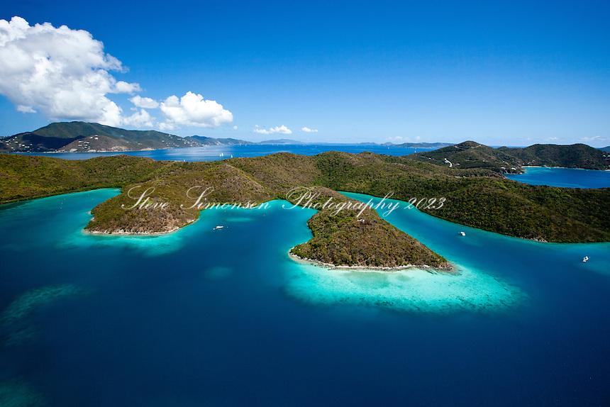 Princess Bay, Otter and Water Creek.Hurricane Hole.St. John.U.S. Virgin Islands