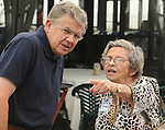 Bob Keane and Betty Spinner seen at Newsday Family Reunion at the Pavilion at Sunken Meadow State Park in Kings Park, NY,  on Thursday August 12, 2010. Photo © Jim Peppler 2010.