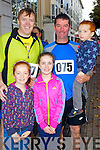 Pictured at the Tralee Carers 10k Mini Marathon at the Brandon Hotel on Sunday were from left: Tadgh Crowley, Emma Buckley Roisin Buckley, David Buckley and Pat Buckley.