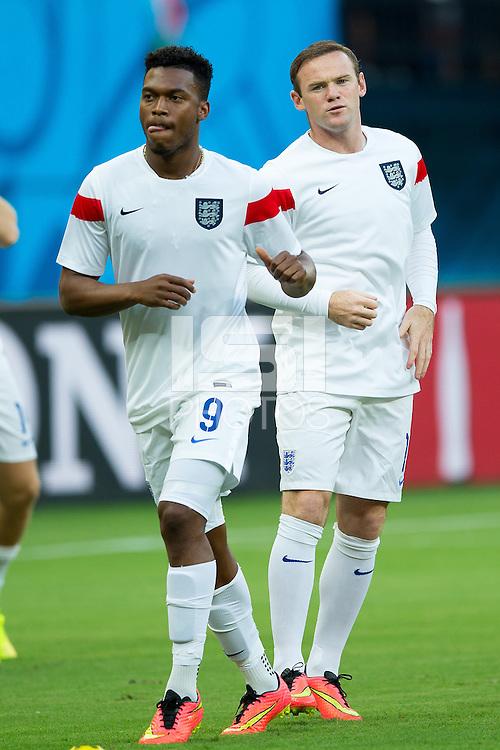 Wayne Rooney of England and Daniel Sturridge