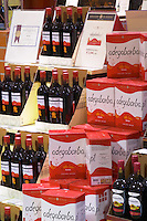 bag-in-box displays wine shop adega cooperativa de borba alentejo portugal