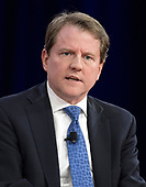 Don McGahn, White House Counsel and Assistant to the President, is interviewed at the Conservative Political Action Conference (CPAC) at the Gaylord National Resort and Convention Center in National Harbor, Maryland on Thursday, February 22, 2018.<br /> Credit: Ron Sachs / CNP