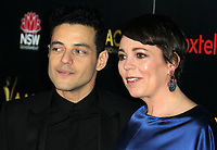 04 January 2019 - Los Angeles, California - Rami Malek, Olivia Colman. 8th AACTA International Awards hosted by the Australian Academy held at SKYBAR at Mondrian Los Angeles.        <br /> CAP/ADM<br /> &copy;ADM/Capital Pictures