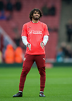 Mohamed Elneny of Arsenal warms up during the Premier League match between Arsenal and Newcastle United at the Emirates Stadium, London, England on 16 December 2017. Photo by Vince  Mignott / PRiME Media Images.