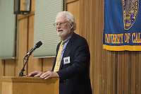 OAKLAND, CA - November 4, 2016: Kent Brewer speaks at the Big C Society 31st Annual Hall of Fame Banquet at the Greek Orthodox Cathedral.