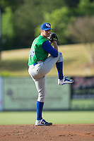 Lexington Legends starting pitcher Foster Griffin (33) in action against the Kannapolis Intimidators at CMC-Northeast Stadium on May 25, 2015 in Kannapolis, North Carolina.  The Intimidators defeated the Legends 6-5.  (Brian Westerholt/Four Seam Images)